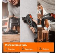 (JH48) E-Series 18V Cordless Oscillating Multitool Cordless for outdoor/indoor use. 5000–1...