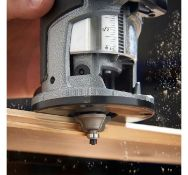 (JH12) Compact Router Saw 710W - Variable speed control Complete with trimmer base Chuck Col...