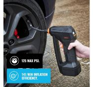 (JH9) 12V Tyre Inflator Cordless and portable, this Tyre Inflator is practical, fast and powe...