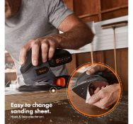 (JH25) E-Series Cordless Sander Charge time (with 1.5Ah Battery): 85 minutes. No load runni...