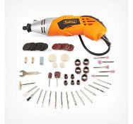 (DD28) Rotary Multitool & Accessory Set Versatile rotary multitool with a 170W motor 120 pie...