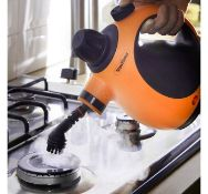 (JH53) Hand Held Steam Cleaner Emits powerful hot pressurised steam for up to eight minutes fo...
