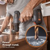 (JH51) E-Series 18V Cordless Drill Driver Drill up to 10mm (metal) & 20mm (wood) 30NM torqu...