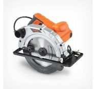 (GE10) 185mm Circular Saw Powerful 1200W input Multiple bevel angle settings for joint cuts ...