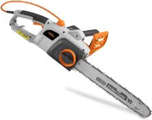 "(DD18) 2200W Chainsaw With 16"" Oregon Chain – Great For Carpentry & Gardening"