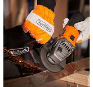 (JH3) 750W Angle Grinder Runs at 11000 RPM with no load speed, allowing the 115mm disc to deli...