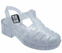 Girls Childrens Clear Jelly Sandals Shoes Sizes Euro 34