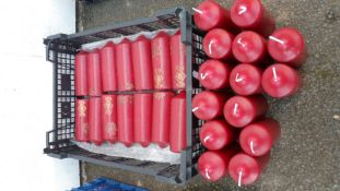28X Table Centrepiece Candles - Burgundy