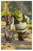 6 Shrek Walltatstic Mural Size Approx 8 Foot X 5 Foot