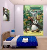 6 Kung Fu Panda Walltatstic Mural Size Approx 8 Foot X 5 Foot