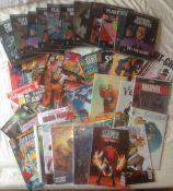 11 Eaglemoss Hardback Superhero Books & 32 Superhero Comics
