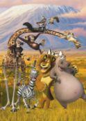 6 Madagascar Walltatstic Mural Size Approx 8 Foot X 5 Foot