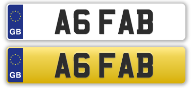 A6Fab 'Ab Fab' Absolutely Fabulous Numberplate