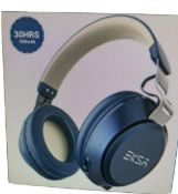 Boxed New Eksa Blue & Beige Wireless Bluetooth Headphones