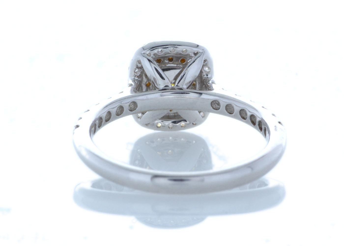 Lot 28 - 18ct White Gold Halo Set Ring 0.70 Carats