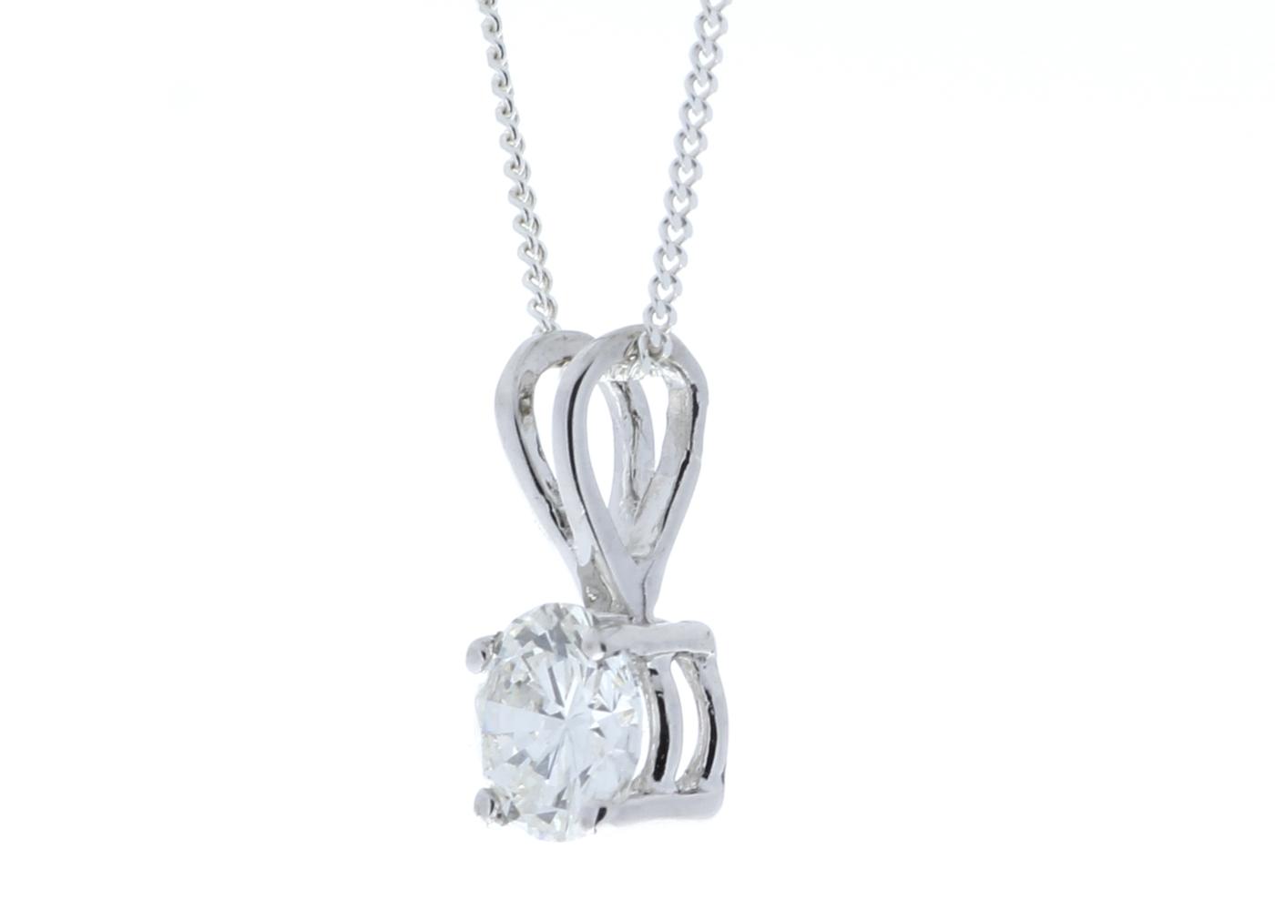 Lot 41 - 18ct Single Stone Claw Set Diamond Pendant 0.50 Carats