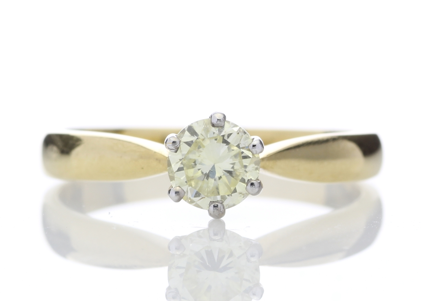 Lot 2 - 18ct Single Stone Fancy Yellow Diamond Ring 0.56 Carats