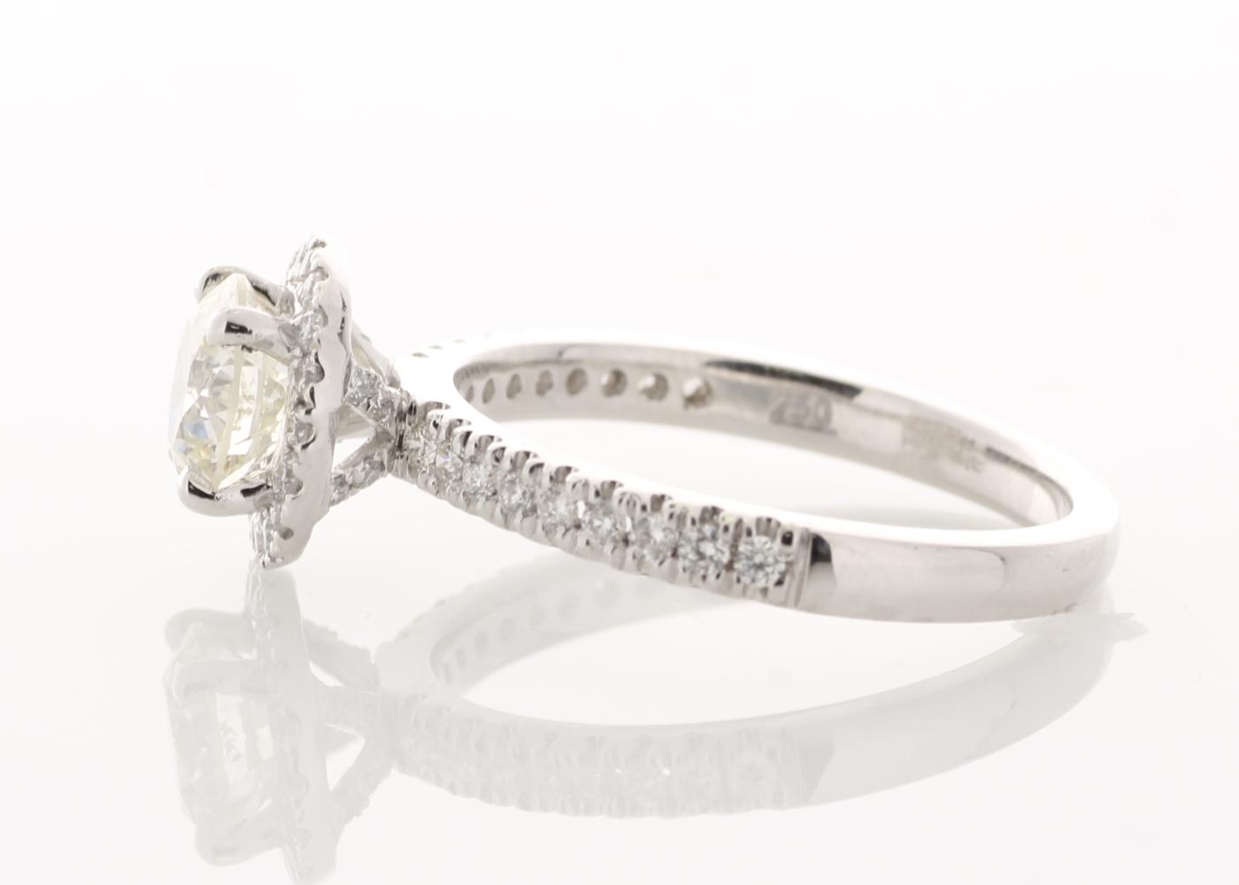 18ct White Gold Halo Set Ring 1.37 Carats - Image 2 of 5