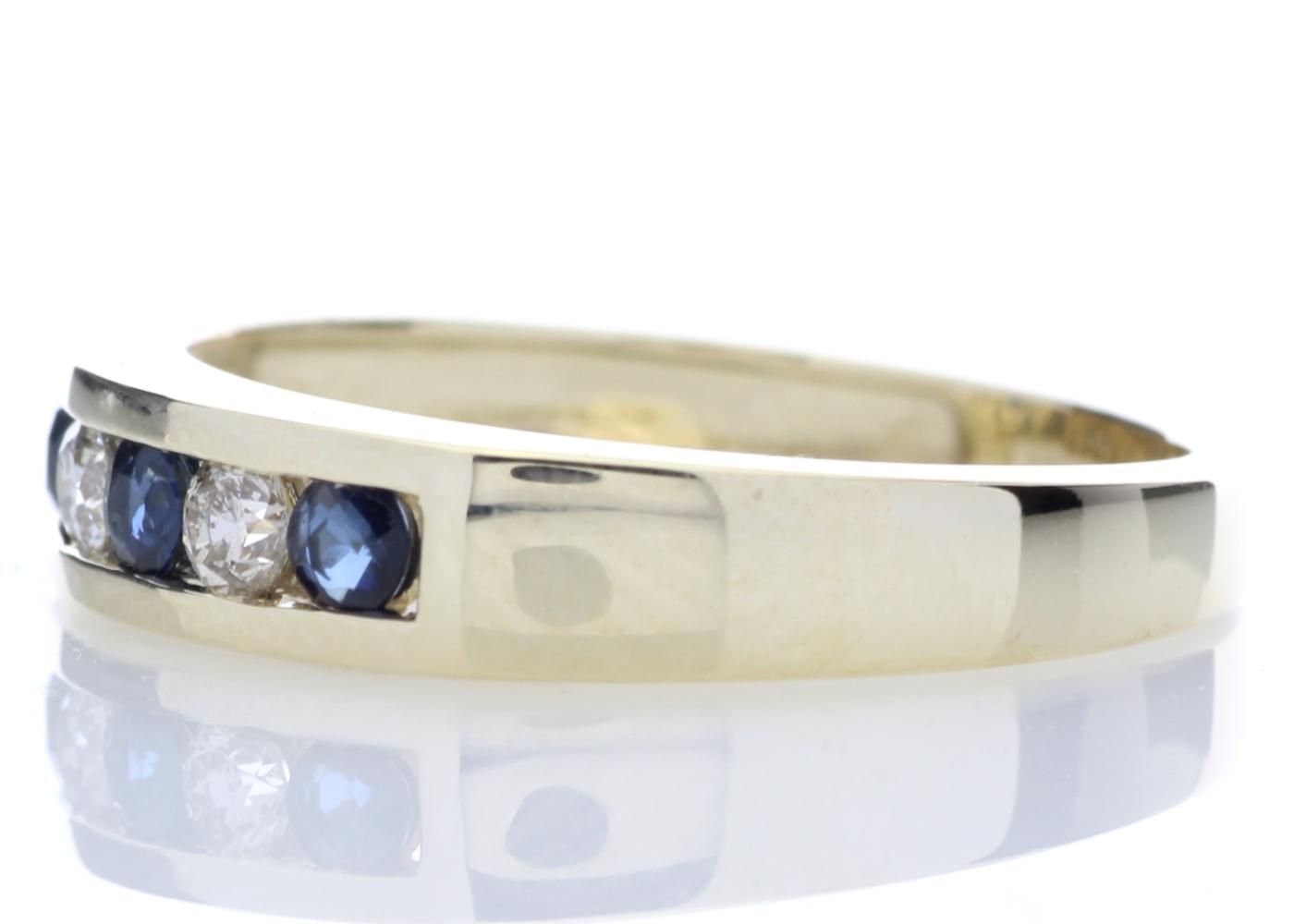 9ct Yellow Gold Channel Set Semi Eternity Diamond Ring 0.25 Carats - Image 3 of 5