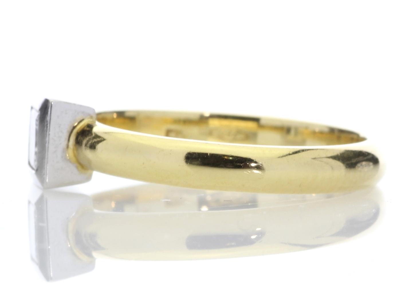 18ct Princess Cut Rub Over Diamond Ring 0.45 Carats - Image 3 of 8