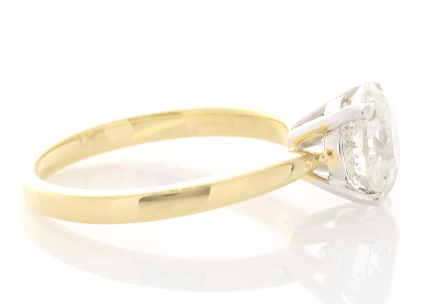 18ct Yellow Gold Prong Set Diamond Ring 2.21 Carats - Image 4 of 5