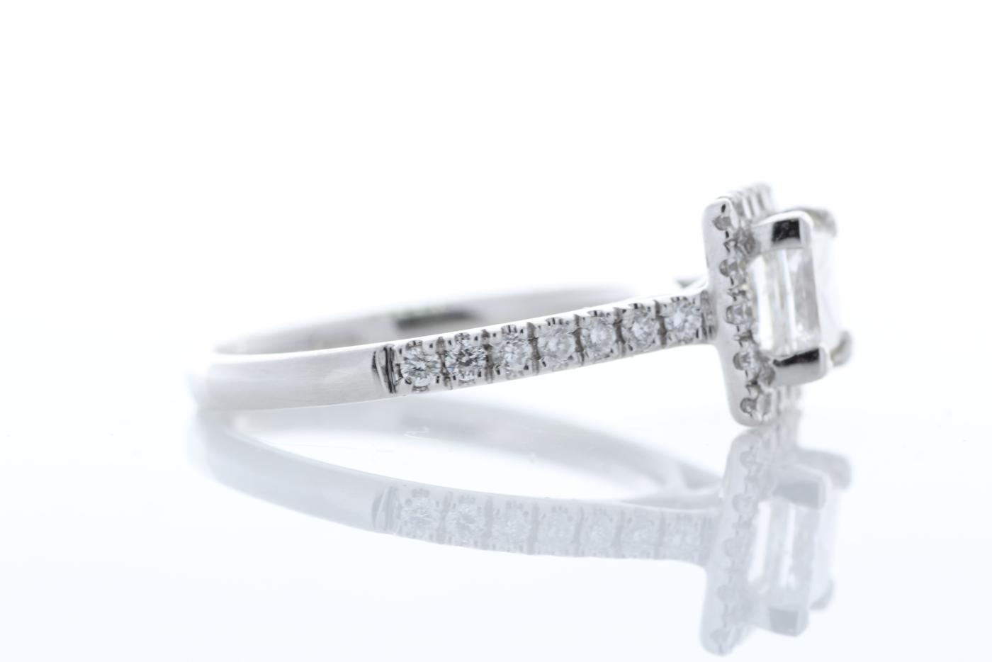 18ct White Gold Halo Set Princess Cut Diamond Ring 1.36 Carats - Image 4 of 6