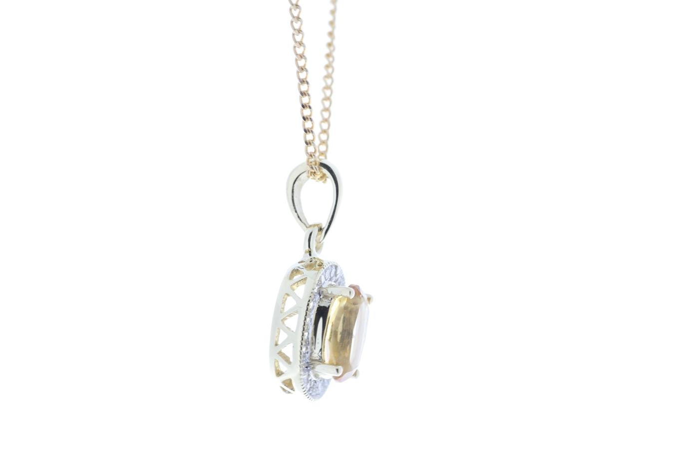 Lot 52 - 9ct Yellow Gold Diamond And Citrine Pendant