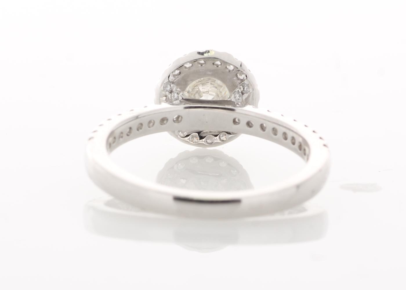 Lot 27 - 18ct White Gold Halo Set Ring 1.37 Carats