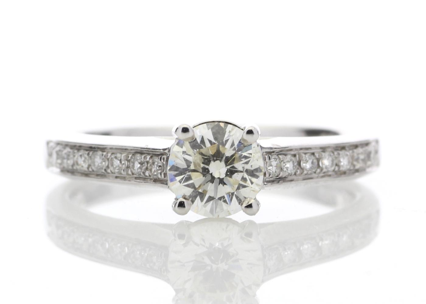 Lot 17 - 18ct White Gold Single Stone Claw Set Diamond Ring 0.73 Carats