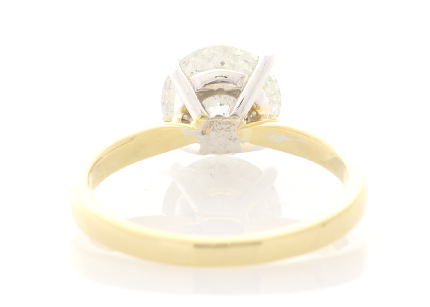 18ct Yellow Gold Prong Set Diamond Ring 2.21 Carats - Image 3 of 5