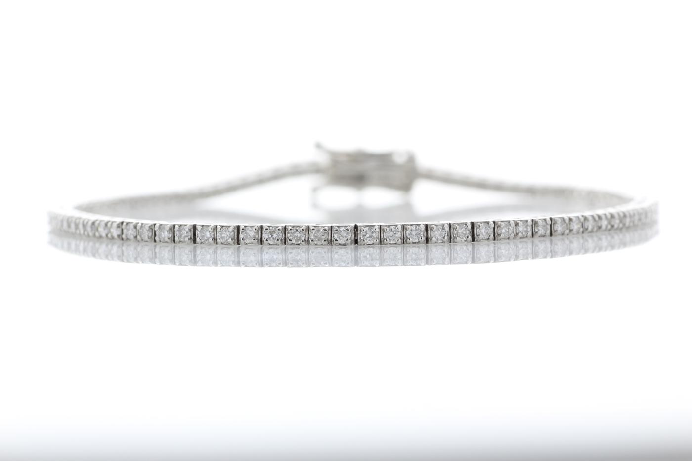 Lot 42 - 18ct White Gold Tennis Diamond Bracelet 1.11 Carats