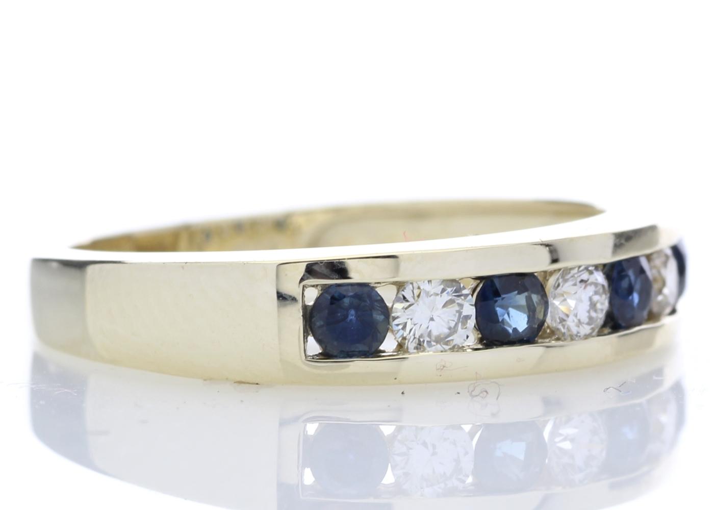 9ct Yellow Gold Channel Set Semi Eternity Diamond Ring 0.25 Carats - Image 4 of 5