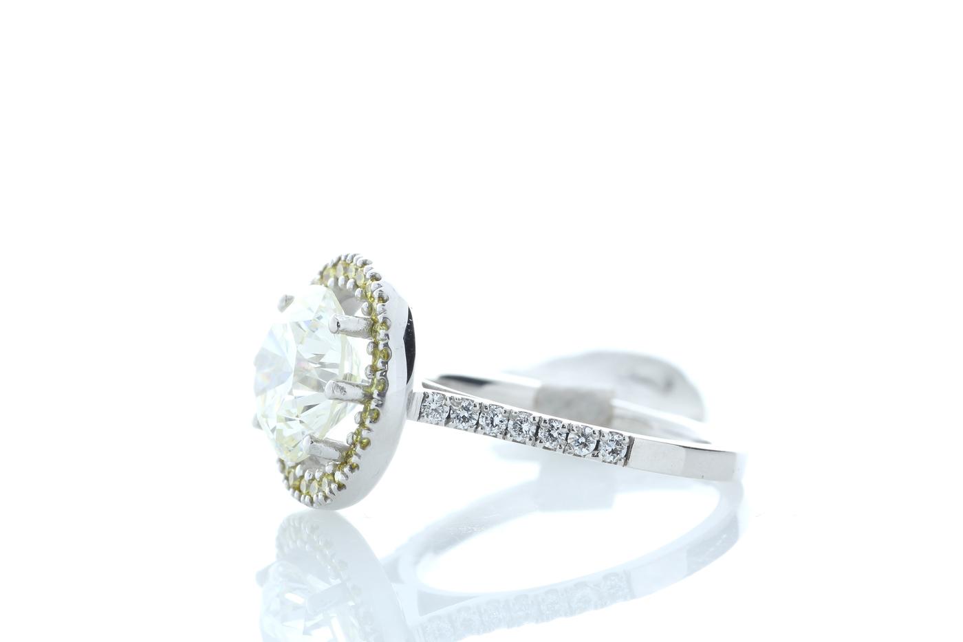 18ct White Gold Halo Set Diamond Ring 3.43 Carats - Image 2 of 5