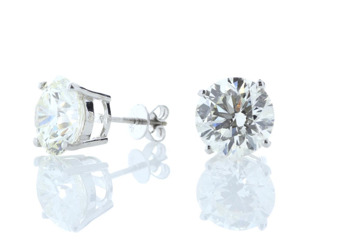 18ct White Gold Prong Set Diamond Earring 11.00 Carats - Image 2 of 3