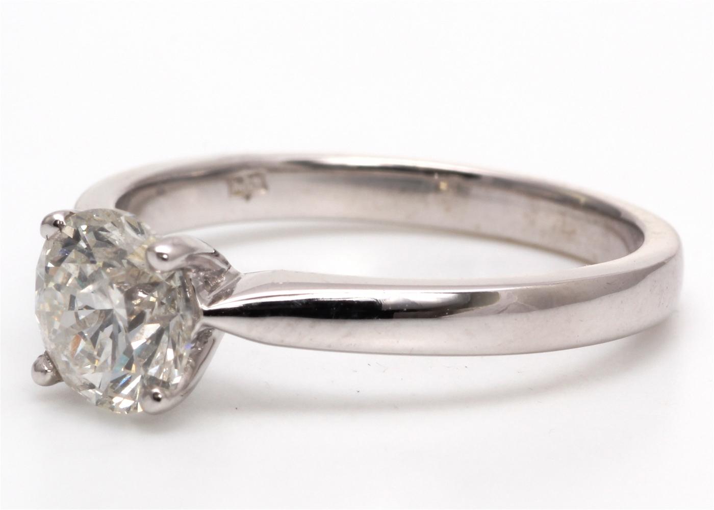 18ct White Gold Single Stone Diamond Ring 1.05 Carats - Image 2 of 4
