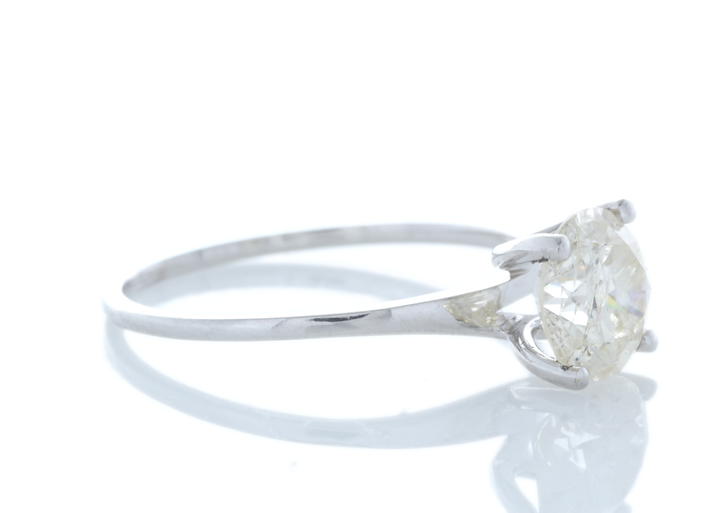 Lot 15 - 18ct White Gold Rex Set Diamond Ring 1.29 Carats