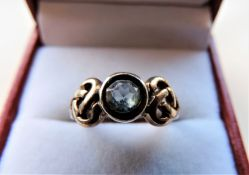 Sterling Silver Celtic Knot Topaz Ring