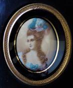 Miniature Marie Antoinette Hand Painted Portrait