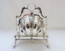 Antique Silver Plate Bun Warmer/Biscuit Warmer
