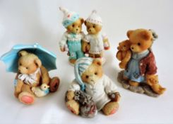 4 x Cherished Teddies Figures Limited Editions