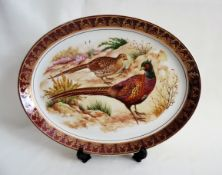 Vintage Hand Painted Oval Plate