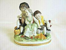 Vintage Hand Painted German Porcelain Figurine