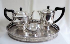 Antique Silver Plate Tea/Coffee Set - N.B tray not included