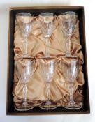 Italian Lead Crystal Wine Glasses Set of 6