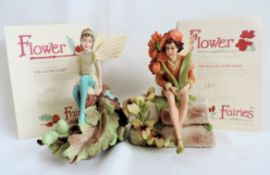 2 x Danbury Mint Flower Fairies Limited Editions