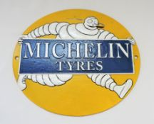Vintage Cast Iron Michelin Man Wall Plaque