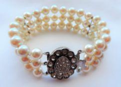 Antique Victorian Pearl Bracelet