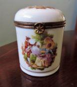 Antique Limoges Fragonard Trinket Box