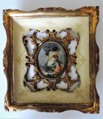 Antique Miniature Portrait Sarah Siddons After Gainsborough