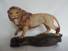 Beswick Lion on a Rock Figurine
